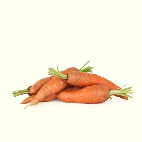 Zanahorias de agricultura tradicional procedentes de excendentes del labrador que planta para autoconsumo
