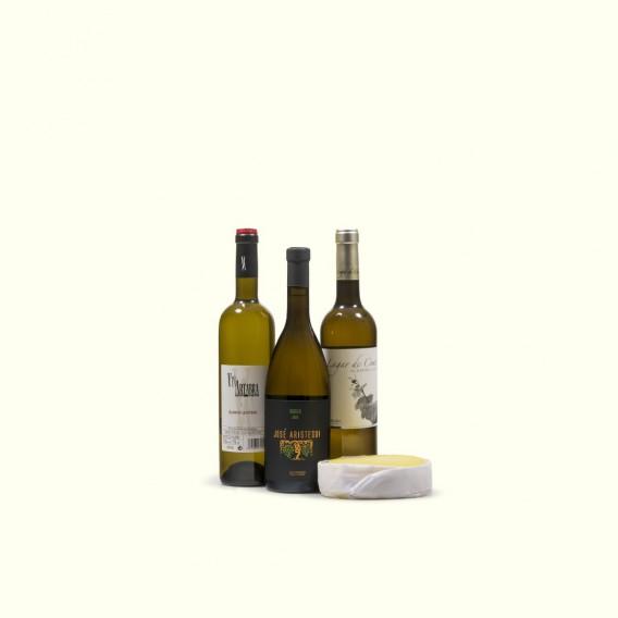 Blanco y en botella: queso