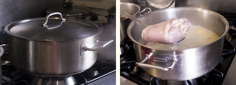 Receta caldo gallego tradicional: empezamos con la carne