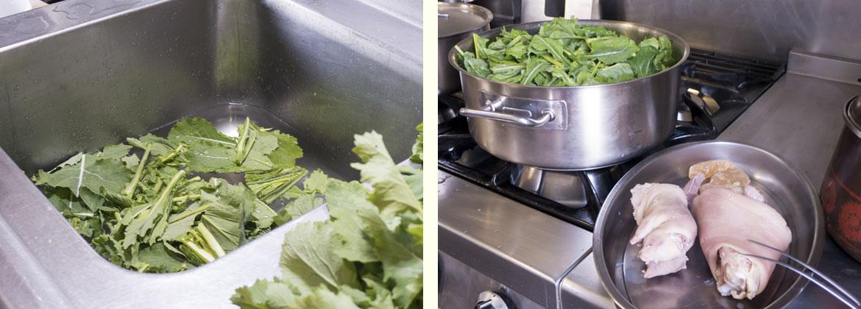 Receta caldo gallego tradicional: cómo limpiar la verdura cortada