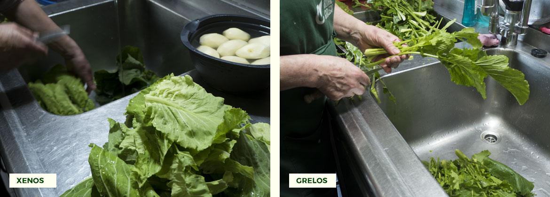 Receta cocido gallego tradicional: preparamos los grelos y/o los xenos para echarlos a la olla