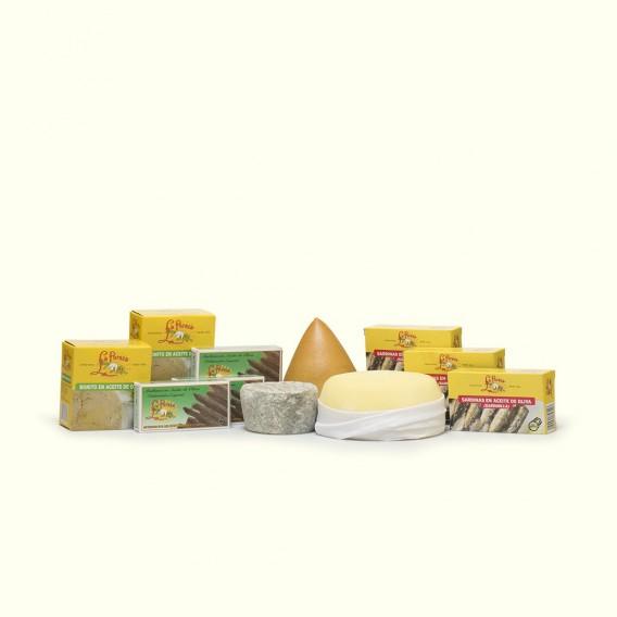 Una combinación de quesos y conservas realizadas como antaño.