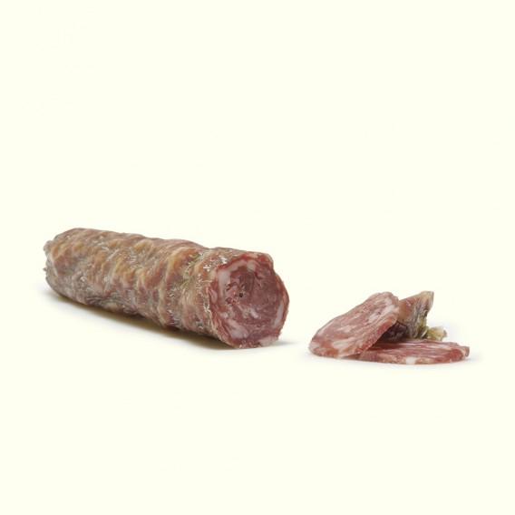 Salchichón de porco celta criado en libertad, con alimentación natural de elaboración y curado tradicional