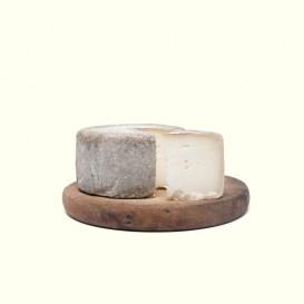 Queso de cabra semicurado elaborado por Rocío & Jorge en su obrador artesanal con leche cruda y maduración de más de 2 meses.