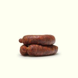 Chorizos frescos para el cocido elaborados por Juan y sus hermanos en el valle de Riotorto con sus propios cerdos.