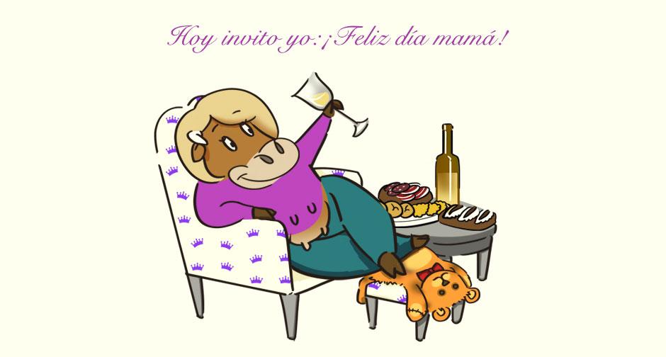 Illustración de la tarjeta regalo para el día de la madre incluida en todas nuestras cestas.